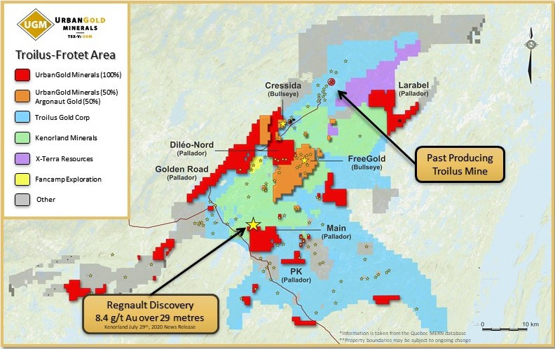 Explorer, About to Begin Drilling Quebec Project, Has the Good Fortune of Neighbors Achieving High-Grade Results