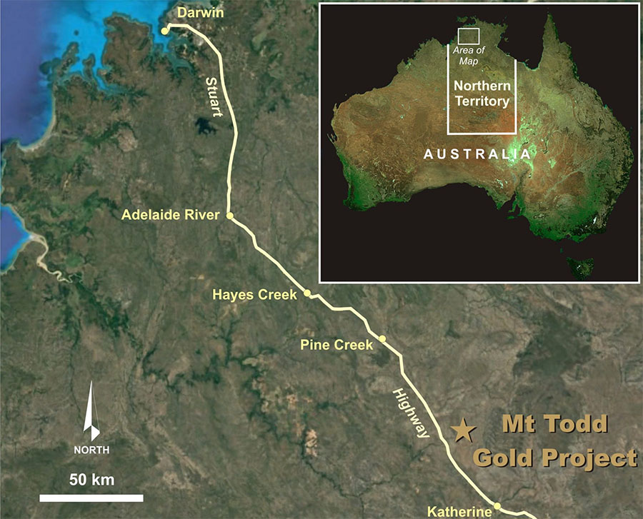 Gold Recoveries Exceed 90% on Metallurgical Testing of Australia Project Ore